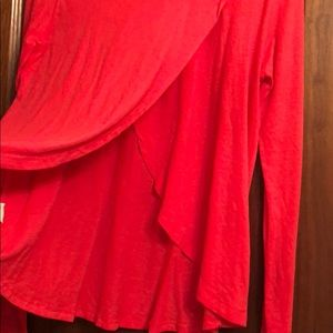 Free People Tops - Free People  Red 100% Cotton long sleeve shirt